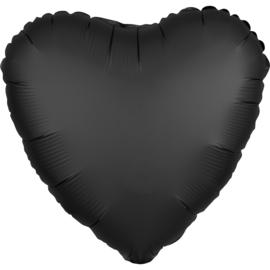Hart Satin- Zwart