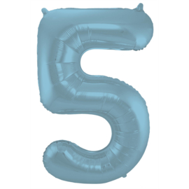 Cijfer Pastel Blauw- 5