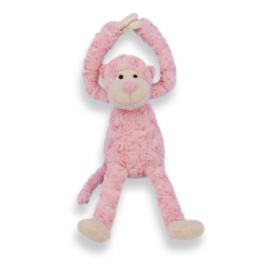 Knuffel- Slingeraap roze