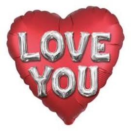 Liefde- Love you 3D zilver