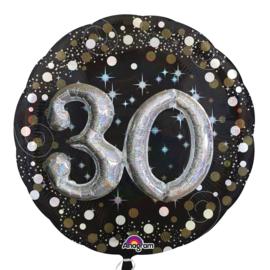 Sparkling 3D Zwart zilver 30