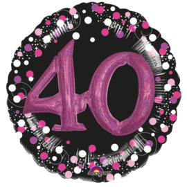 Sparkling 3D Zwart roze 40