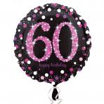 Sparkling zwart pink 60
