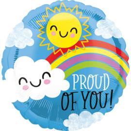 Folieballon- Proud of you