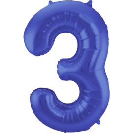 Cijfer Mat Blauw- 3