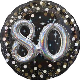Sparkling 3D Zwart zilver 80
