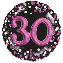 Sparkling 3D Zwart roze 30
