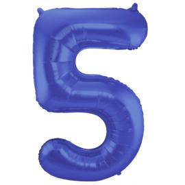 Cijfer Mat Blauw- 5