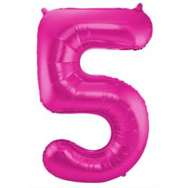 Cijfer Roze- 5
