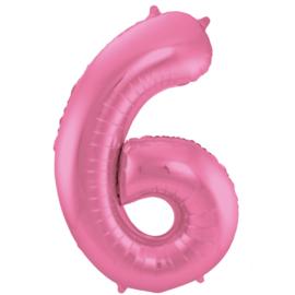 Cijfer Mat Pink- 6