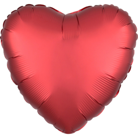 Hart Satin- Sangria rood