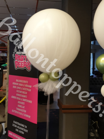 Giant Balloon- 3FT met Tule