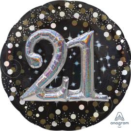 Sparkling 3D Zwart zilver 21
