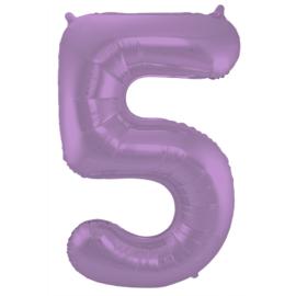 Cijfer Mat Paars- 5