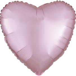 Hart Satin- Pastel pink
