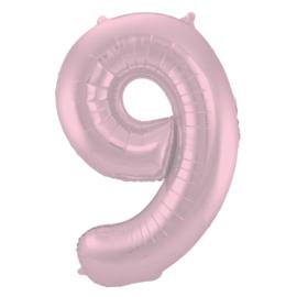 Cijfer Pastel Roze- 9