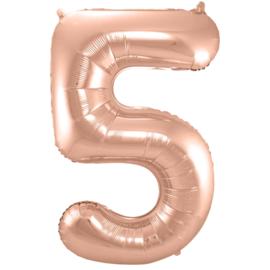 Cijfer Rosé Goud- 5