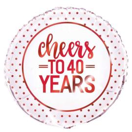 Folie Cheers 40
