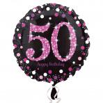 Sparkling zwart pink 50