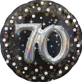 Sparkling 3D Zwart zilver 70