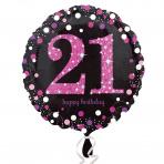 Sparkling zwart pink 21