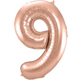Cijfer Rosé Goud- 9