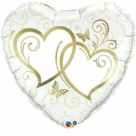 Huwelijk- Harten goud XL