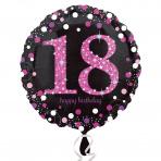 Sparkling zwart pink 18