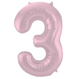 Cijfer Pastel Roze- 3