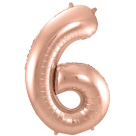 Cijfer Rosé Goud- 6
