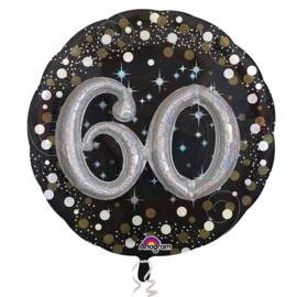 Sparkling 3D Zwart zilver 60