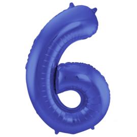Cijfer Mat Blauw- 6