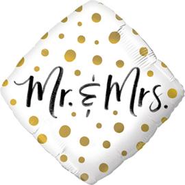 Huwelijk- Ruit Mr & Mrs