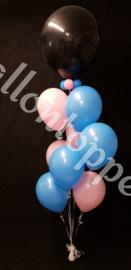 "Gender Reveal- 18"" zonder tekst en 8 extra ballonnen"
