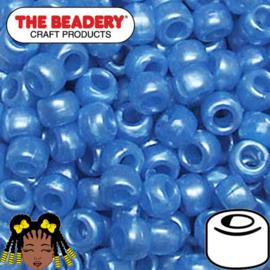 Pony Beads 9x6mm Blauw (277)