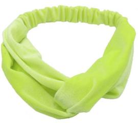 Haarband Fluweel Geel