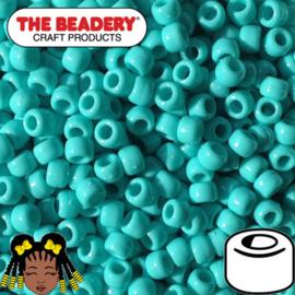 Pony Beads 9x6mm Turquoise (065)
