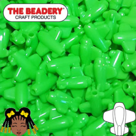 Pony Beads Vliegtuig Groen (060)