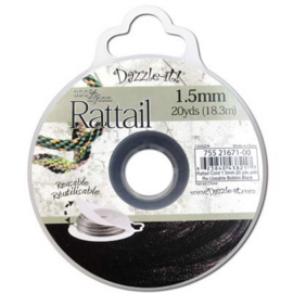 Rattail  Ø1,5mm Zwart