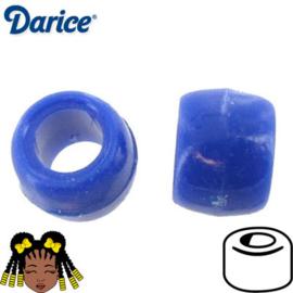 Pony Beads 8x6mm Blauw