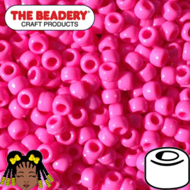 Pony Beads 9x6mm Roze (063)