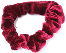 Scrunchie Fluweel Mini Bordeaux