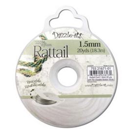 Rattail  Ø1,5mm Wit