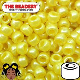 Pony Beads 9x6mm Geel (274)