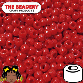 Pony Beads 9x6mm Rood (067)
