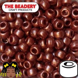 Pony Beads 9x6mm Rood Goud (925)