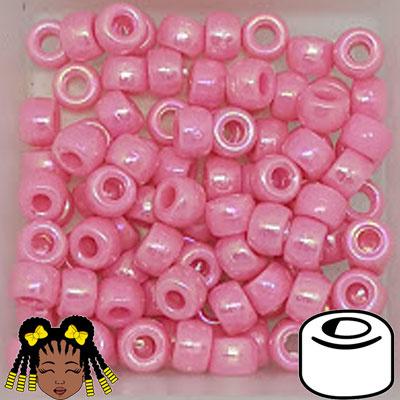 Pony Beads 9x6mm Roze