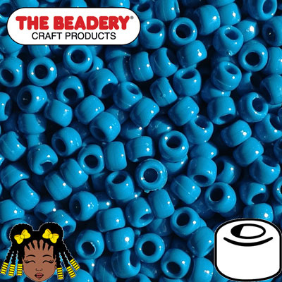 Pony Beads 9x6mm Turquoise (066)