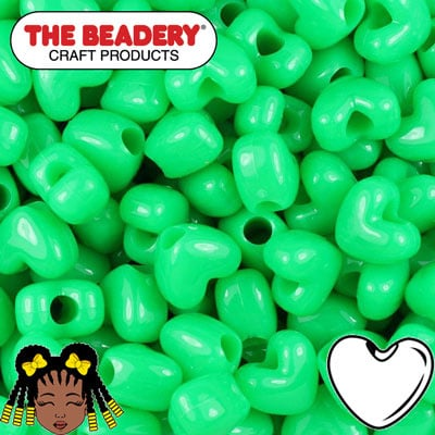 Pony Beads Hart 12mm (096)