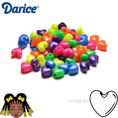 Pony Beads Hart 11mm